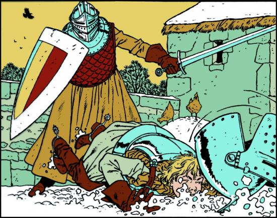 Les 7 vies de l'épervier, Juillard. Illustration