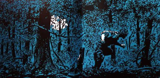 Une nuit de pleine lune, Hermann. Sérigraphie intérieure