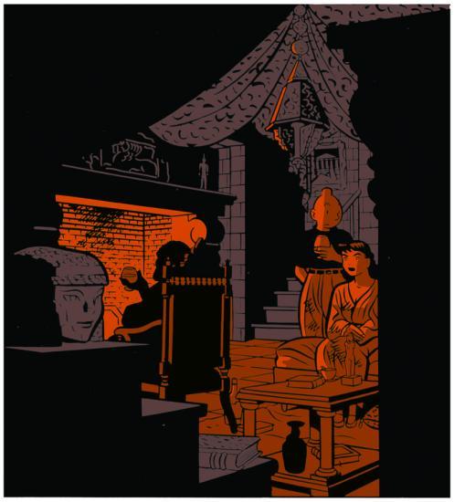 Illustration sérigraphiée au format 29 X 39 cm